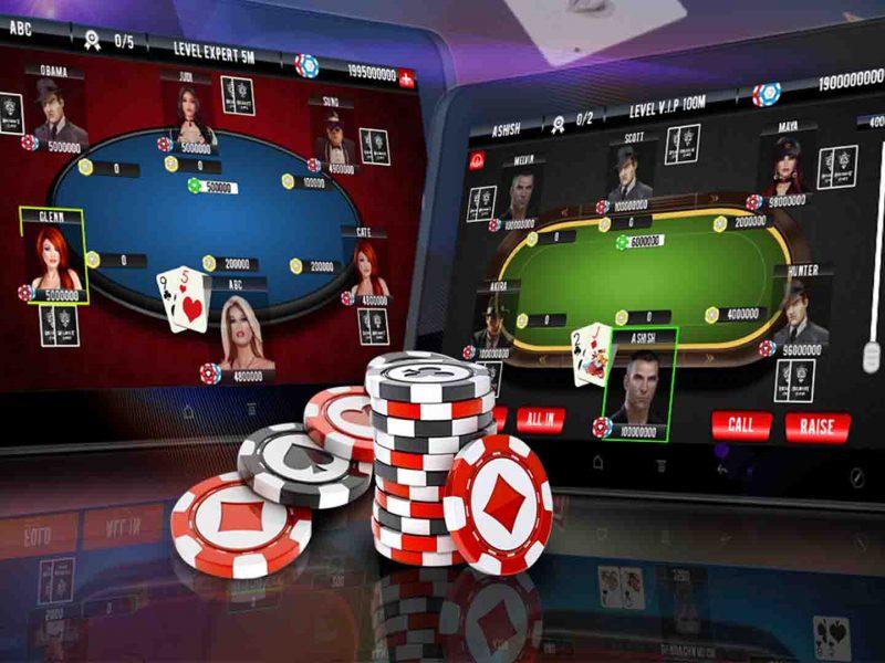 Online poker is similar to offline poker.